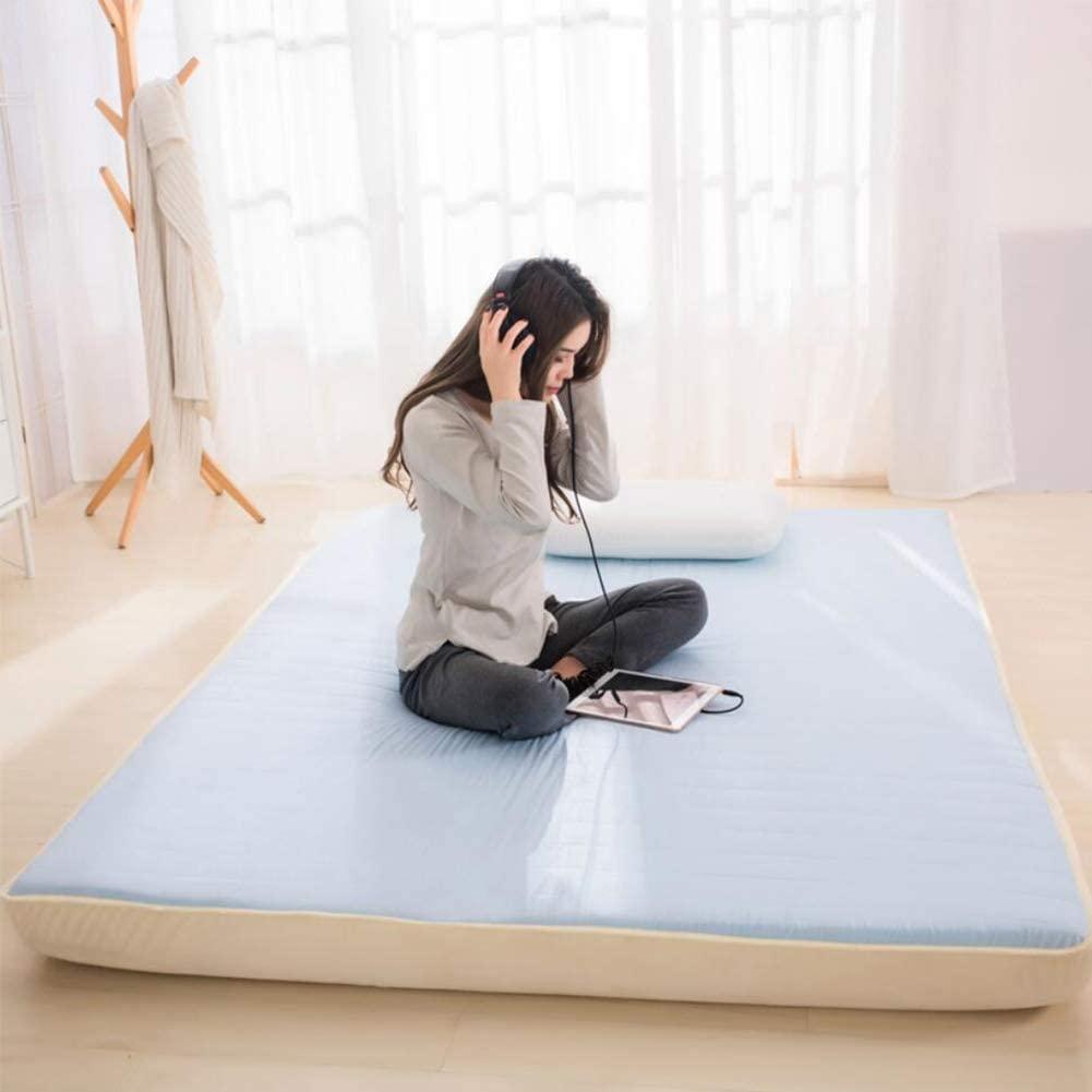 YQ WHJB Japanese Futon Tatami Mat, Ultra Soft Breathable Memory Cotton Floor Mattress Foldable Guest Mattress Floor Beds-Blue 120x200cm(47x79inch)