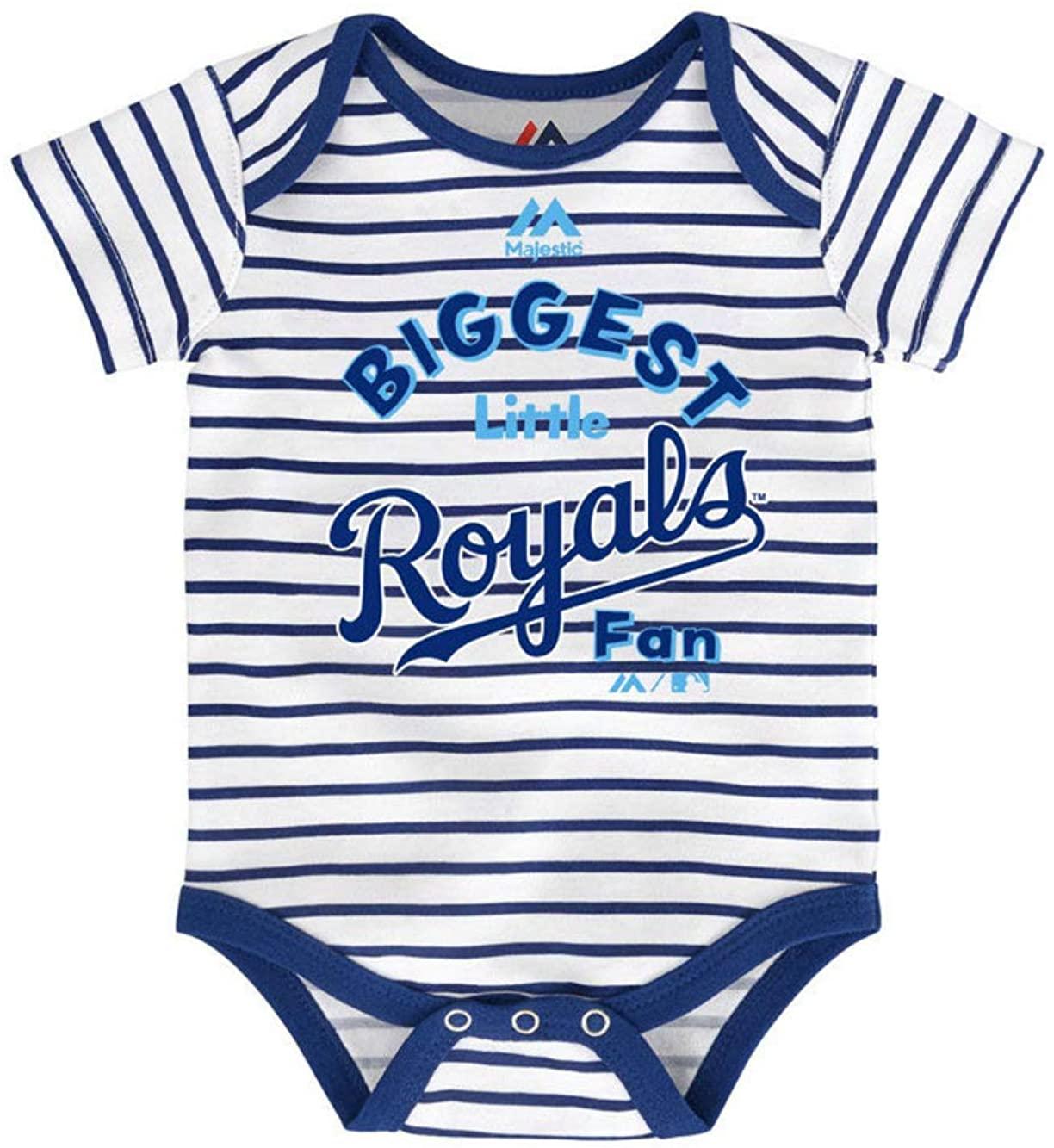 Majestic Athletic Kansas City Royals Infant One Piece Size 18 Months Bodysuit Creeper White