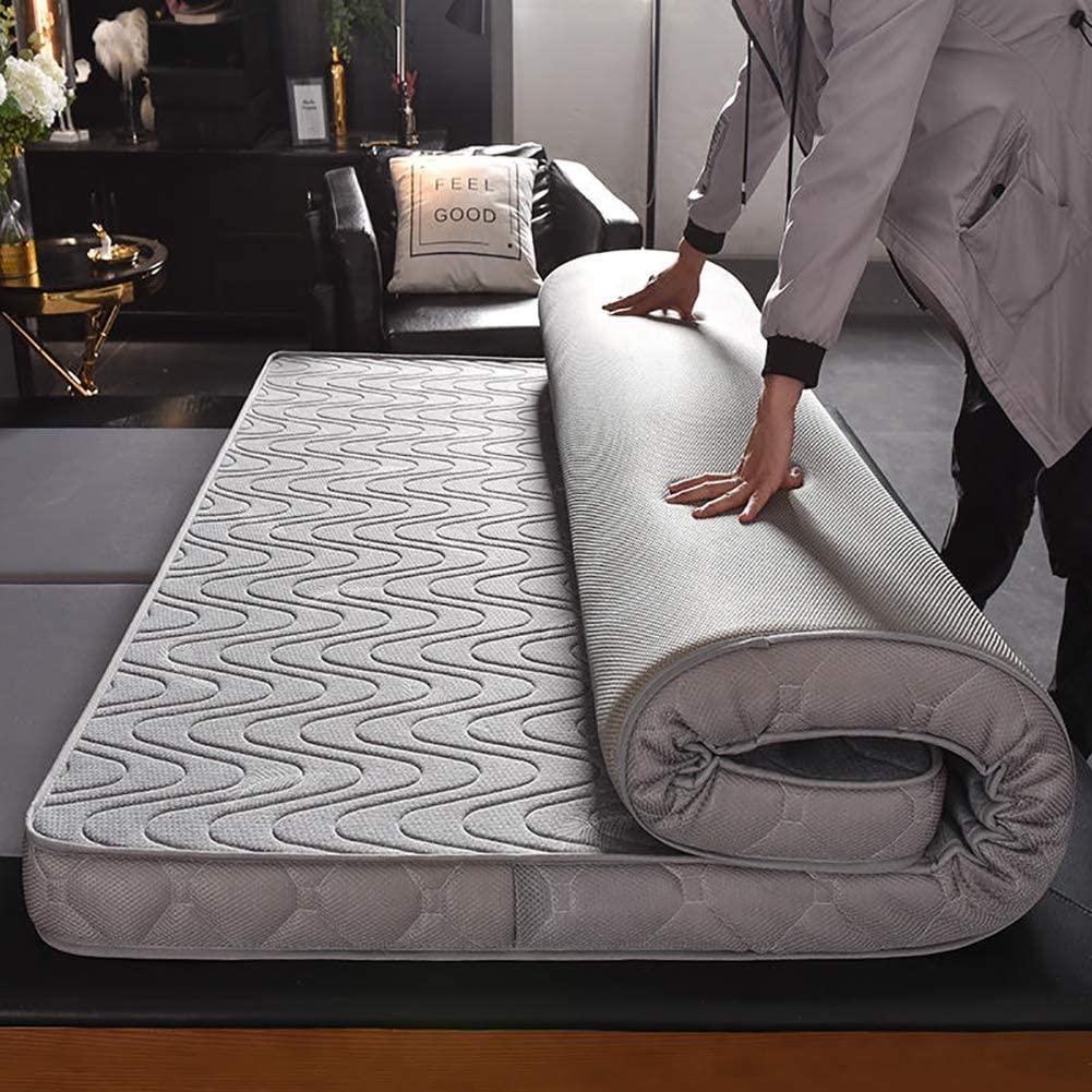 AMYDREAMSTORE Memory Foam Floor Mattress,Japanese Floor Futon Mattresses Pad,Tatami Floor Mattress,Breathable Thick Quilted Mattress Topper Pad-c 150x200cm(59x79inch)