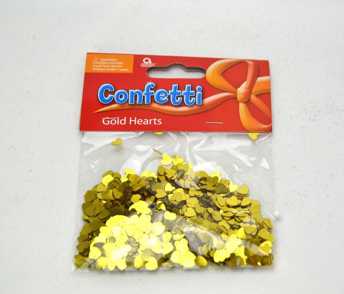 Gold Hearts Wedding Confetti