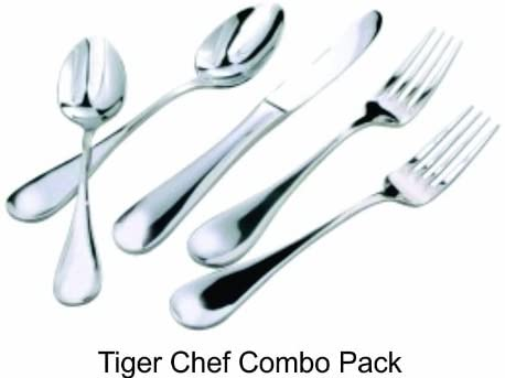 Tiger Chef e 40-piece Flatware Set, 18/8 Stainless Steel
