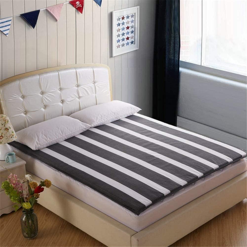 CJ&WIN Simple Foldable Futon Mattress Thicken Japanese Sleeping Tatami Floor Mat Non-Slip Soft Cushion Mattress Pad 180x200 for Student Dormitory Bedroom Living Room Etc