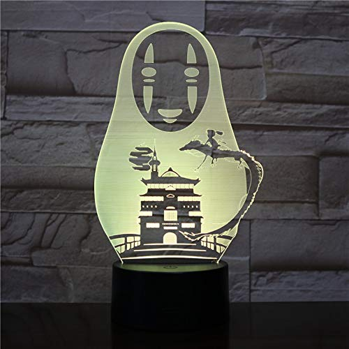 LED Night Light with Faceless Man Pattern,7 Colors Changing with USB Cable,Touch Remote Control, Best for Children Gift Baby Bedroom and Party Decorations.