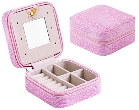 LIYIMENG Jewelry Packaging Box Casket Box For Exquisite Makeup Case Cosmetics Beauty Organizer Container Boxes Graduation Birthday Gift (Pink)