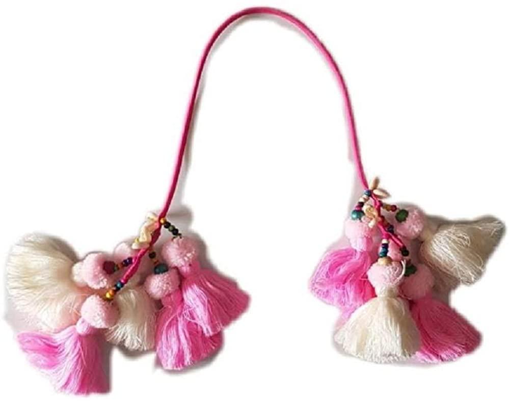 Thailand popular yarn Tassels handbag (Pink)