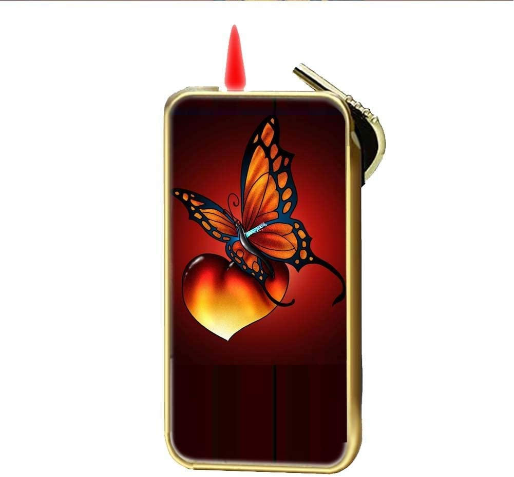 Use As Gas Lighter Durable Design Butterfly 2 for Boys Made by Metal