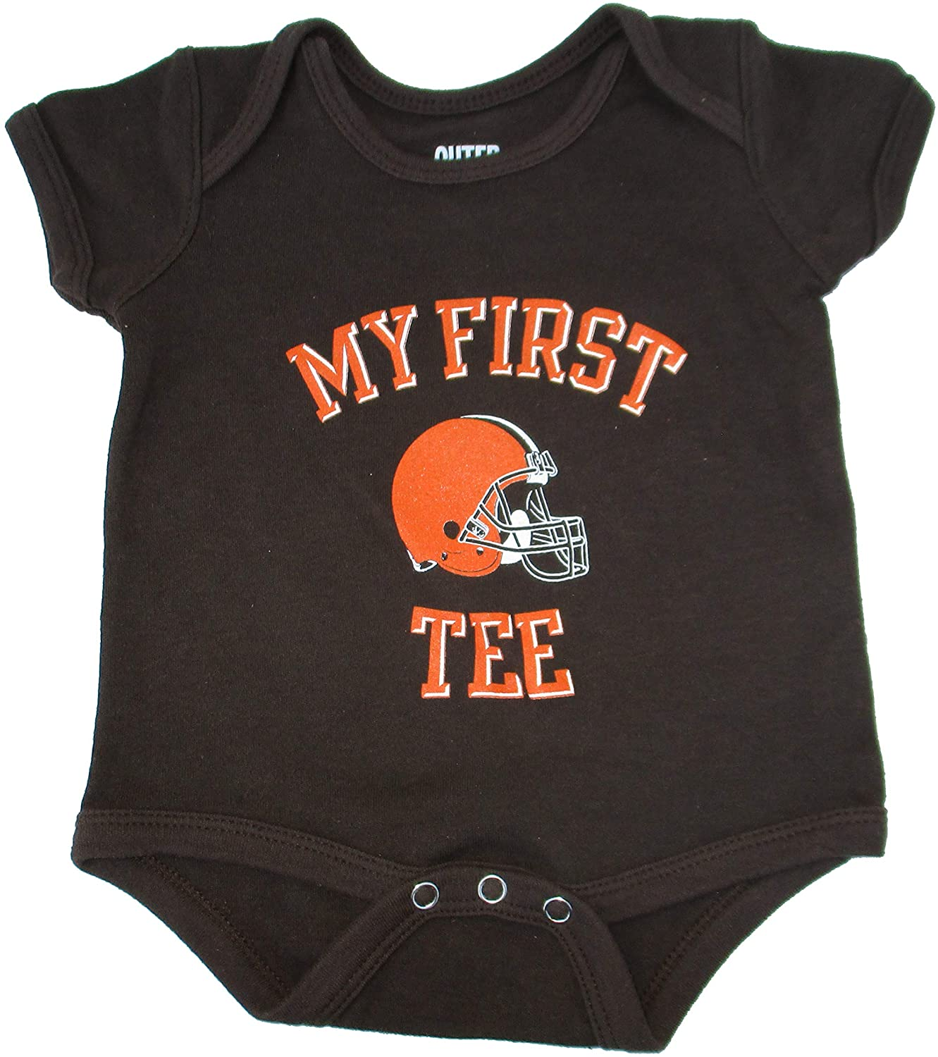 Outerstuff Cleveland Browns My First Tee Infant One Piece Size 0-3 Months Bodysuit Helmet Logo - Team Colors
