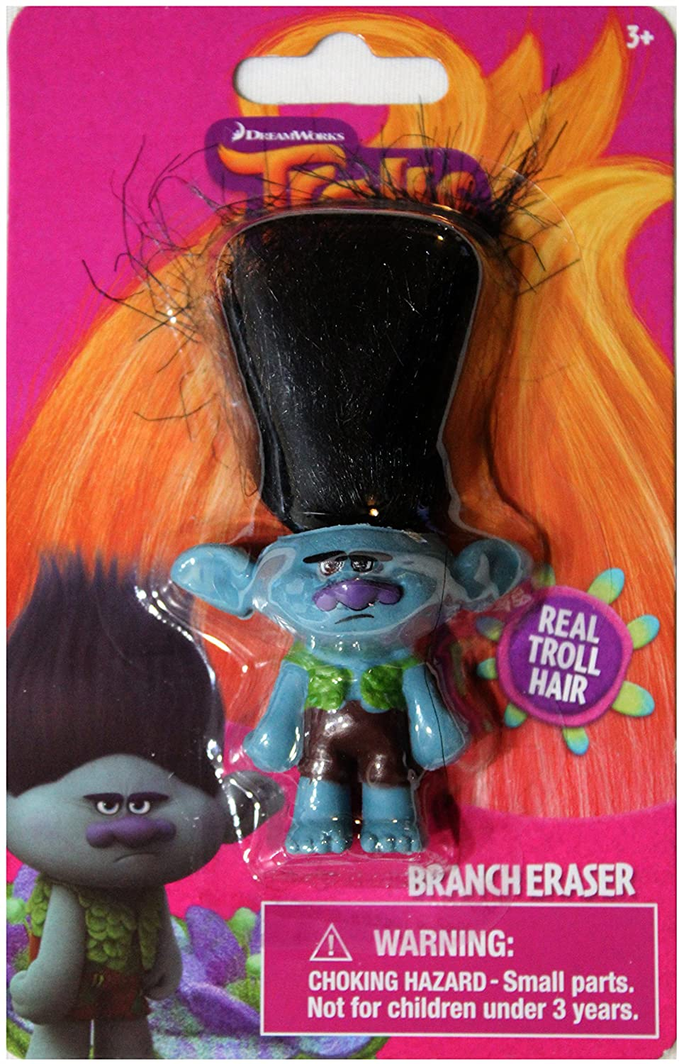 Dream Works Trolls Brancher Eraser 2 inch mini-figure