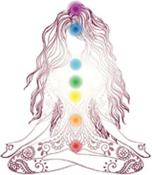 EW Designs Magnet Delicate Yoga Yoji Woman with Henna and Rainbow Shakras Magnetic Vinyl Magnet Bumper Sticker (4
