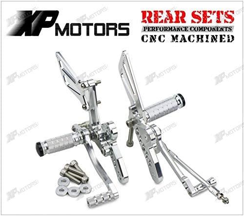 Frames & Fittings New Racing CNC Adjustable Rear Sets for Suzuki GSX1300R Hayabusa 2008 2009 2010 2011 2012 2013 2014 2015 Silver