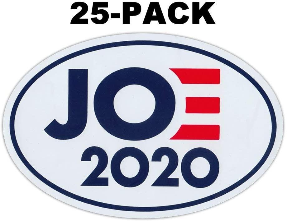 Crazy Novelty Guy (25-Pack) Oval Political Campaign Magnet, Joe 2020 Logo Magnet, Democrat President, 6