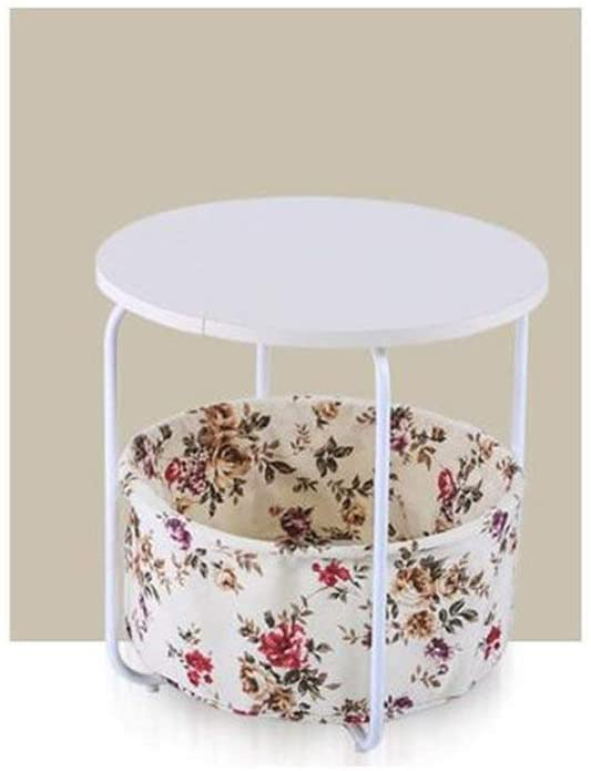 GWW Perfect FurnitureCoffee Table, Round Table Living Room Bedroom Cafe Hotel Balcony Small Table Dessert Table Storage Table Size 43-54CM Tea Table (Color : H)