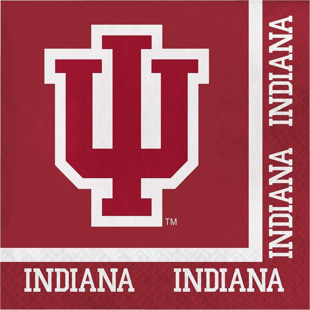 40 University of Indiana Hoosiers 2-ply Premium Lunch Napkins College Football Party Tailgating