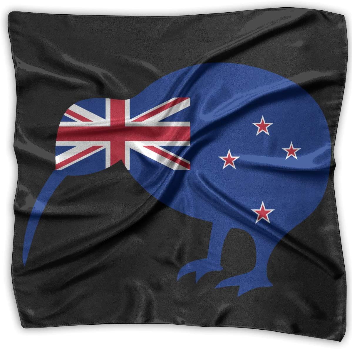 WFIRE New Zealand Kiwi Bird Square Handkerchiefs Scarf Shawl Bandanas Headscarf Neckerchief Tie Hair Scarf