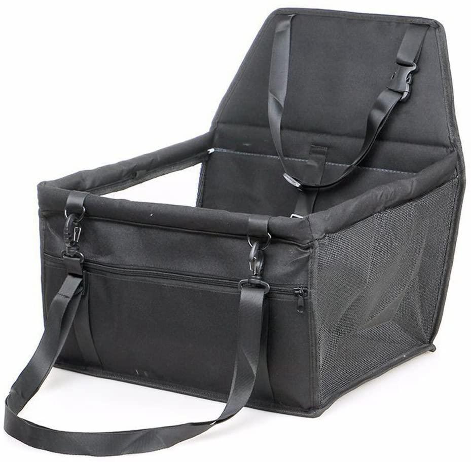 Wgwioo Car Booster Seat For Dog,Folding Pet Traveling Carrier Bag,Black,403025Cm