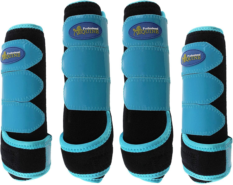 Professional Equine Horse Medium 4-Pack Sports Medicine Splint Boots 4148C