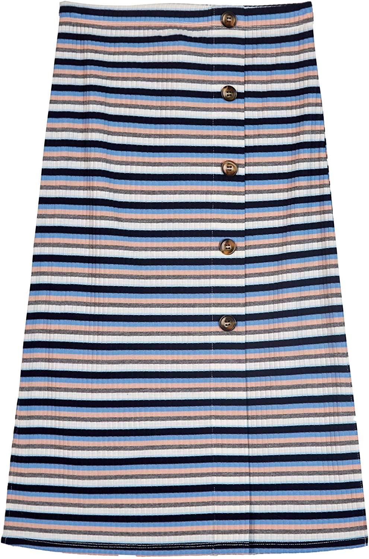 Amy Byer Girls Big Button Front Column Skirt