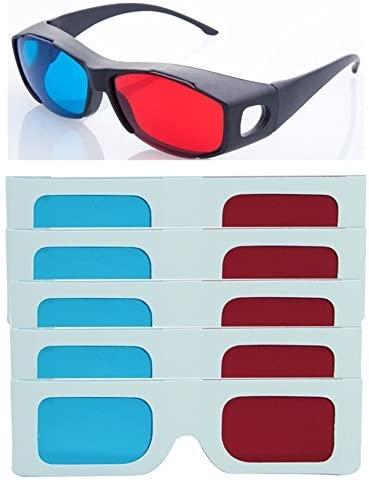 HRINKAR Model Anaglyph 3D Glasses And 1 Plastic +5 Paper ( 3D Glass )