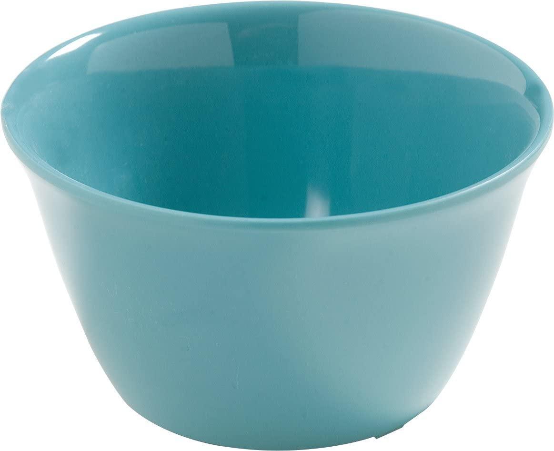 Carlisle 4386863 Dayton Melamine Bouillon Cup, 8 Oz., Turquoise (Set of 24)