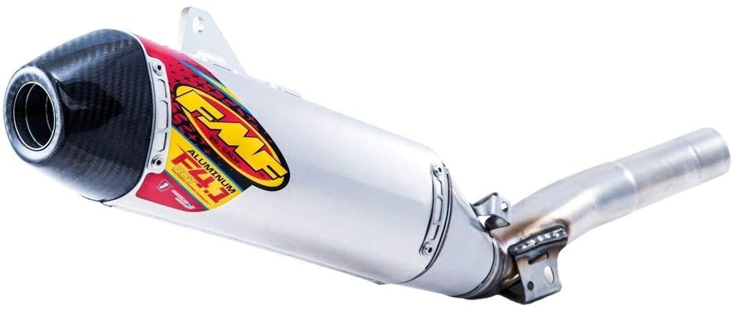 FMF Factory 4.1 RCT Slip-On Exhaust (Aluminum with Stainless Steel Mid Pipe and Carbon Fiber End Cap) for 14-18 Yamaha YZ250F