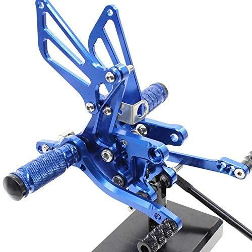 Frames & Fittings CNC Aluminum Adjustable Rearsets Foot Pegs for Suzuki SV650 SV650S SV1000 SV1000S 2008 2009 2010 2011 2012 2013 2014 - (Color: Blue)
