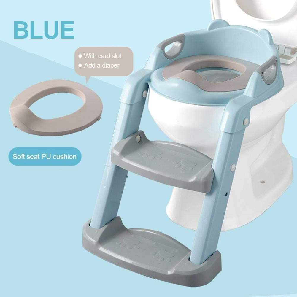 kioski Training Toilet Chair Seat, Potty Training Step Stools, Portable Tour Potty Toddler Toilet Seat with Step Stool Ladder Kids Chair for Boys Girls