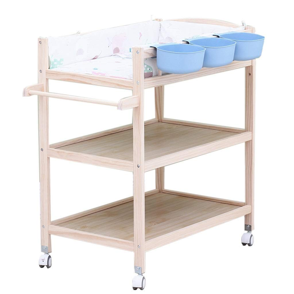 Changing table Infant Changing Table with Pad Baby Care Station with Nursery Storage Unit for Effortless Dressings and Diaper Changes (Color : Blue)