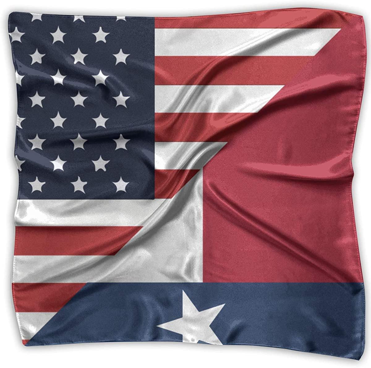 America Texas State Flag Women's Handkerchief Square Silk Party Handkerchiefs