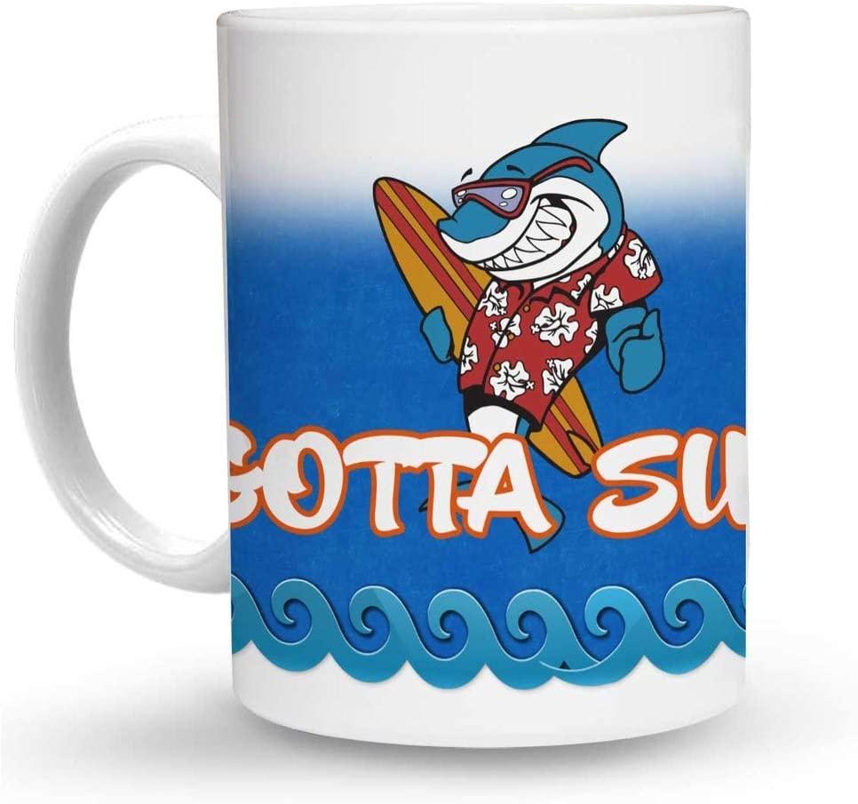 Makoroni - GOTTA SURF Surf Surfing 6 oz Ceramic Espresso Shot Mug/Cup Design#7