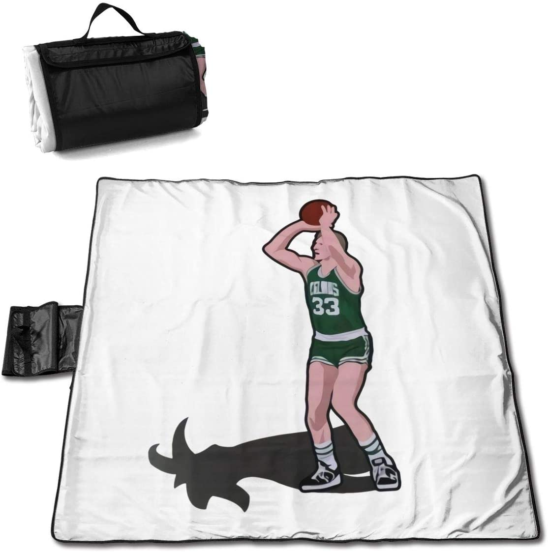 Zcm Goats Basketball Player Portable Printed Picnic Blanket Waterproof 59x57(in)