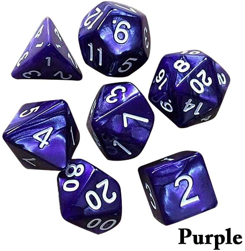 7pcs/Set Polyhedral dice DND Metal dice Set Dungeons & Dragons Dice RPG Games Dice for Shadowrun, Pathfinder, Savage World, Warhammer