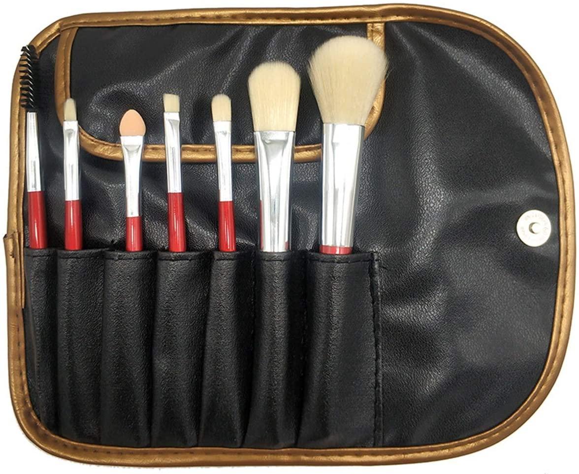 zZZ ZX 7 Pcs Red Beginner Makeup Brush Set Brush Makeup Makeup Tool Beauty Makeup Brush Set Beautiful