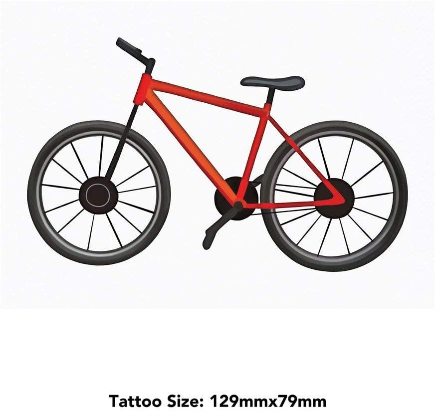 Azeeda Large 'Red Bike' Temporary Tattoo (TO00030538)