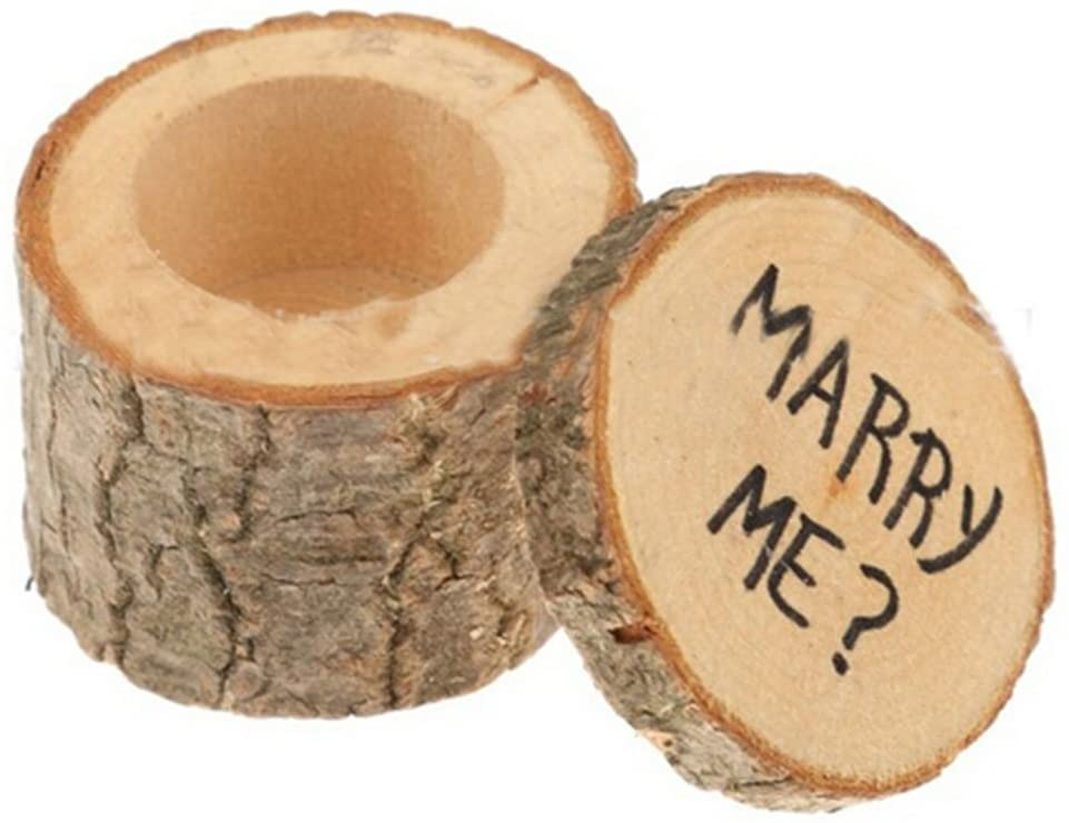 Little Chair Rustic Wooden Party Wedding Engagement Ring Boxes Holder Ring Bearer Jewelry Organizers
