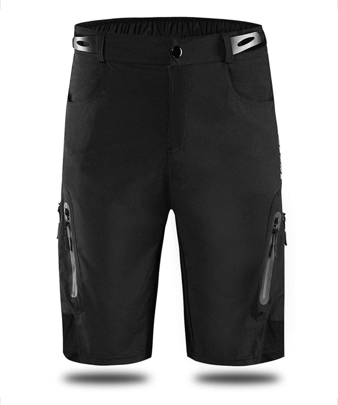 QXSH Outdoor Sports MTB Bike Bicycle Riding Short Zipped Pockets Water Resistant Reflective Cycling Shorts