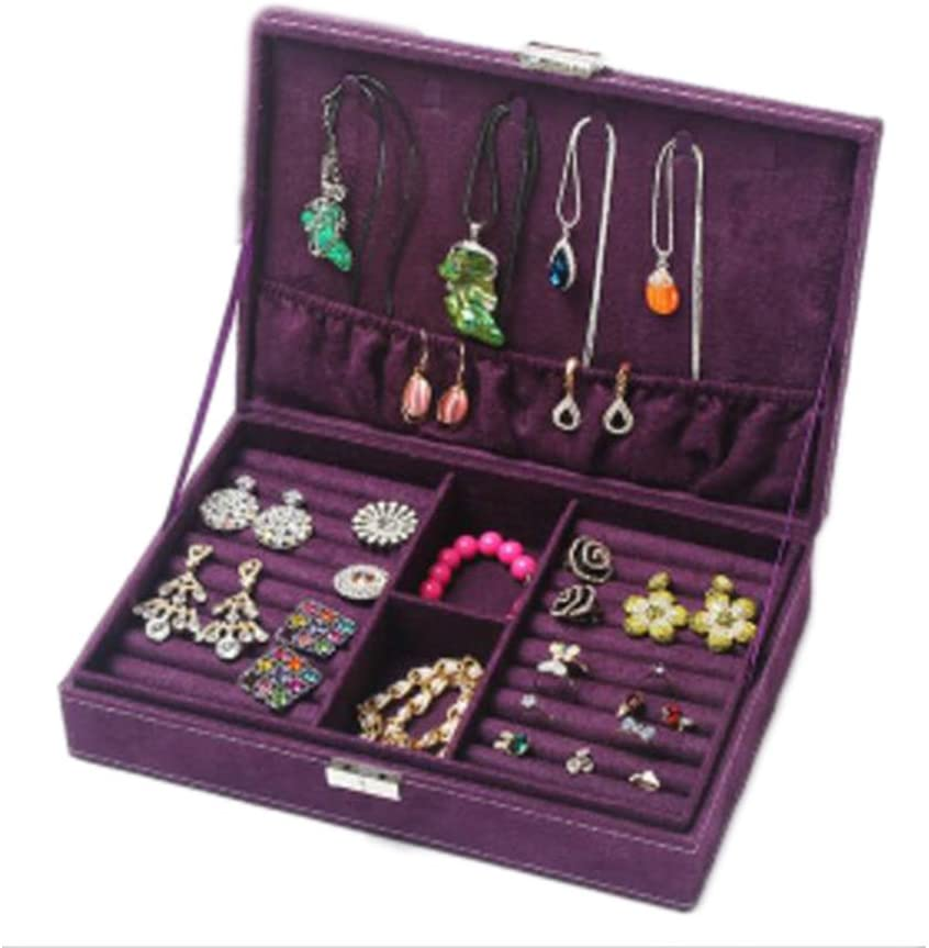 George Jimmy Jewelry Box Necklace Organizer Rings Display Earrings Storage Case-C01
