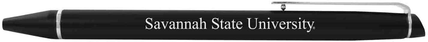 Savannah State University-Chrome Accented Twist Action Ballpoint Pen