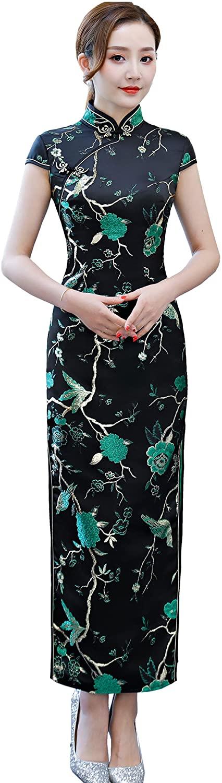 Shanghai Story Embroidery Qipao Chinese Dress Long Cheongsam Women's Party Dress