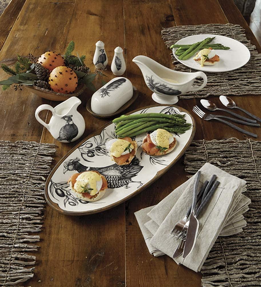Orvis Laura Zindel Ceramic Serverware/Butter Dish,