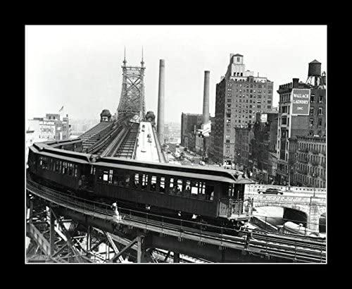 8 x 10 All Wood Framed Photo Queensboro Bridge 1909 Hew York