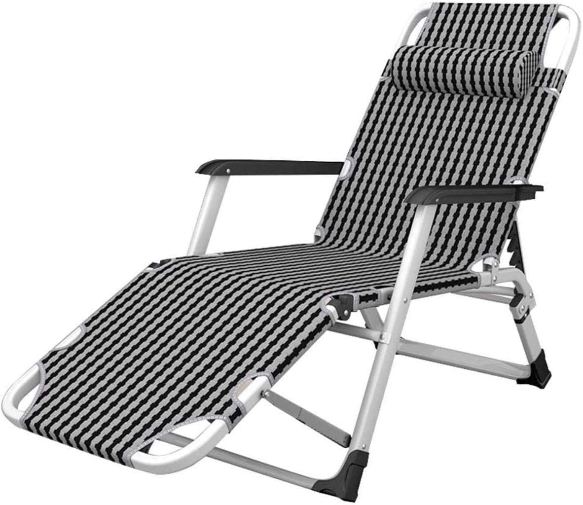 DIMPLEYA Extra Wide Sun Loungers Recliners Folding Reclining Garden Chair Fold Able Deck Chairs Sunbed for Child Adult Patio Pool Comfort Relaxer Chair