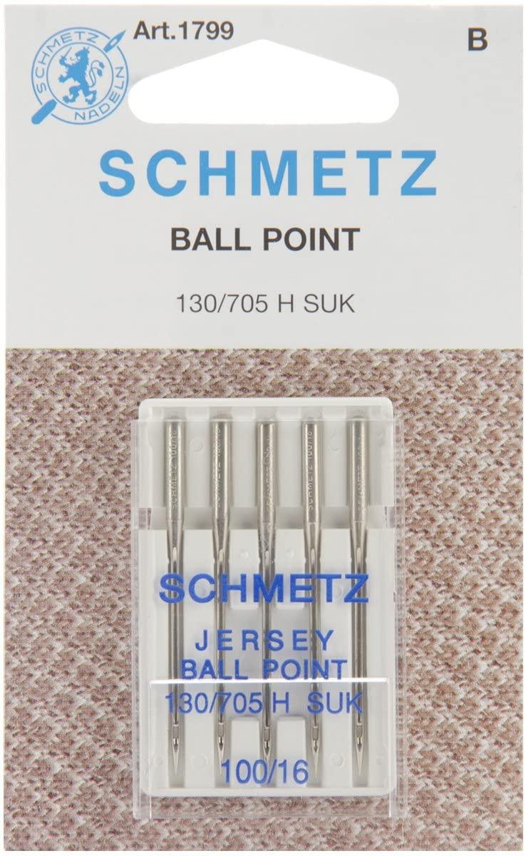 SCHMETZ Jersey (130/705H SUK) Sewing Machine Needles - Carded - Size 100/16