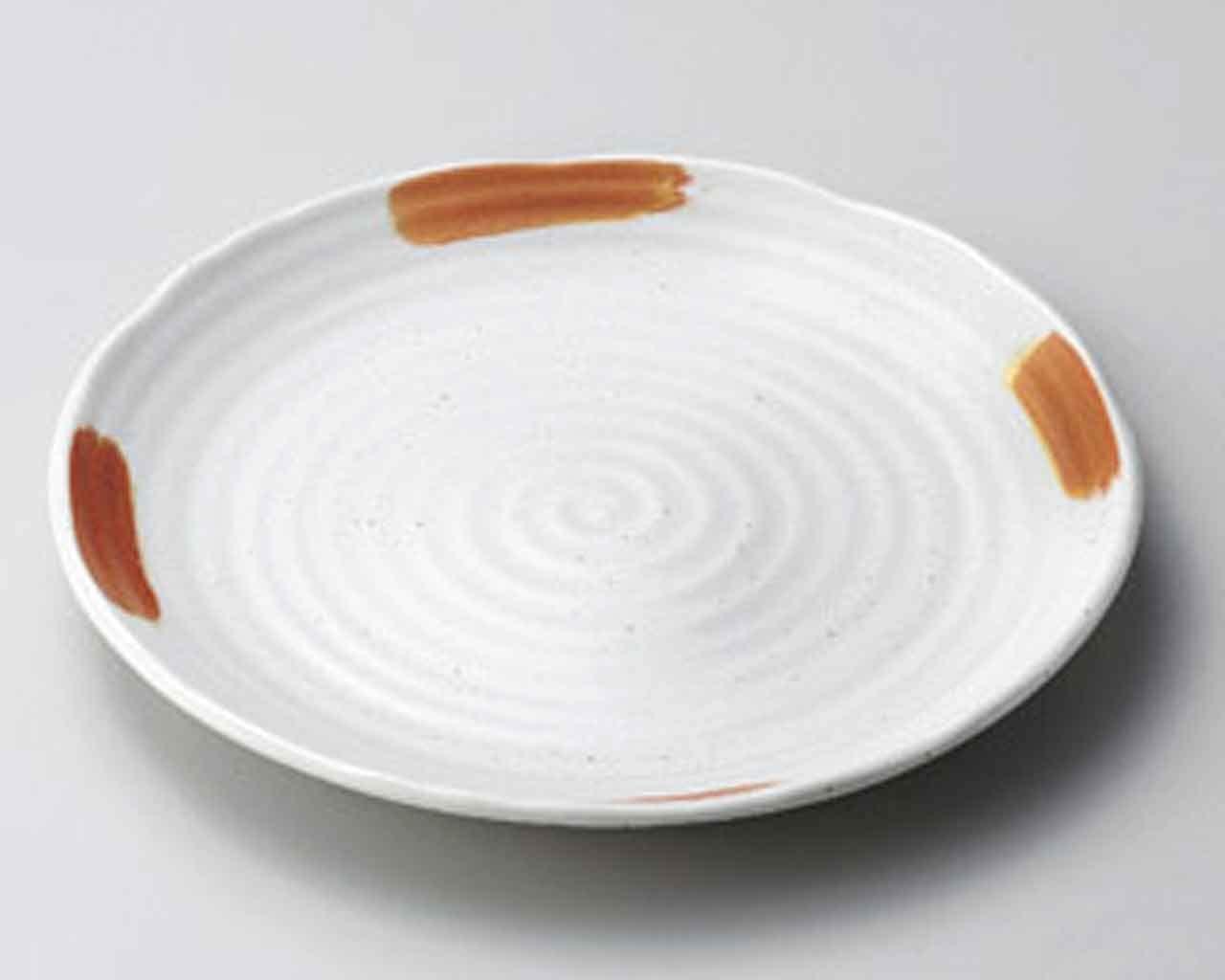 Kobiki Kasuri 6.4inch Set of 2 SUSHI PLATES White porcelain Made in Japan