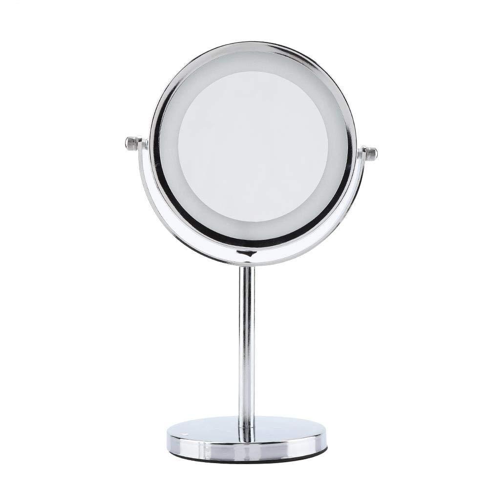 Makeup Mirror Round Bathroom Vanity Cosmetics Mirror For Shaving/Makeup Led Light Magnifying Makeup Mirror