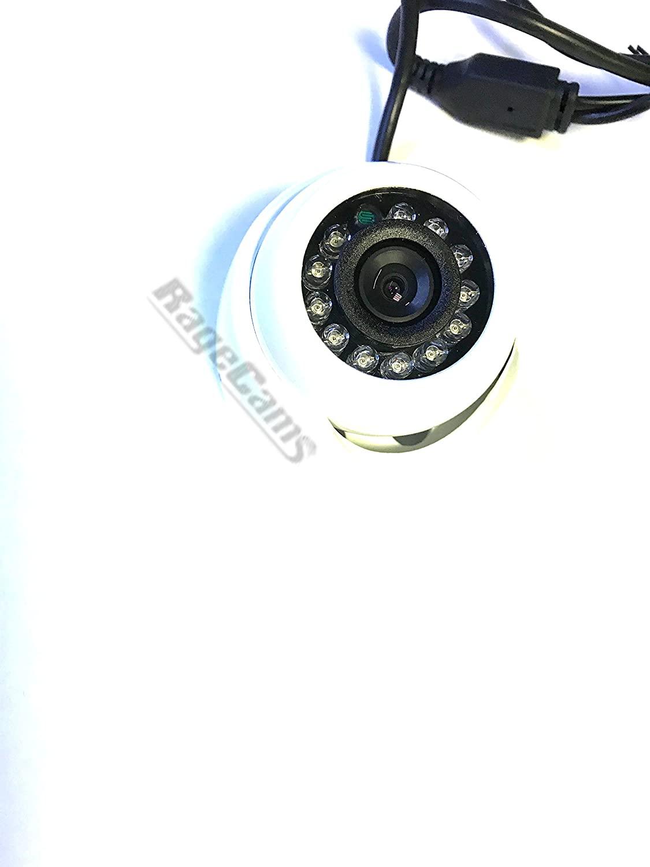 Micro Mini Marine Day Night IR Dome Camera Wide Angle Lens for Garmin-Raymarine w/ 50 Foot Cable