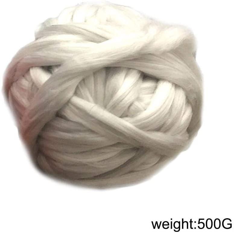 Dappre Color 500g Wool Blend Yarn Knitting Creative Hand-Made Thick Yarn DIY Hand-Woven Rainbow Crochet Cashmere