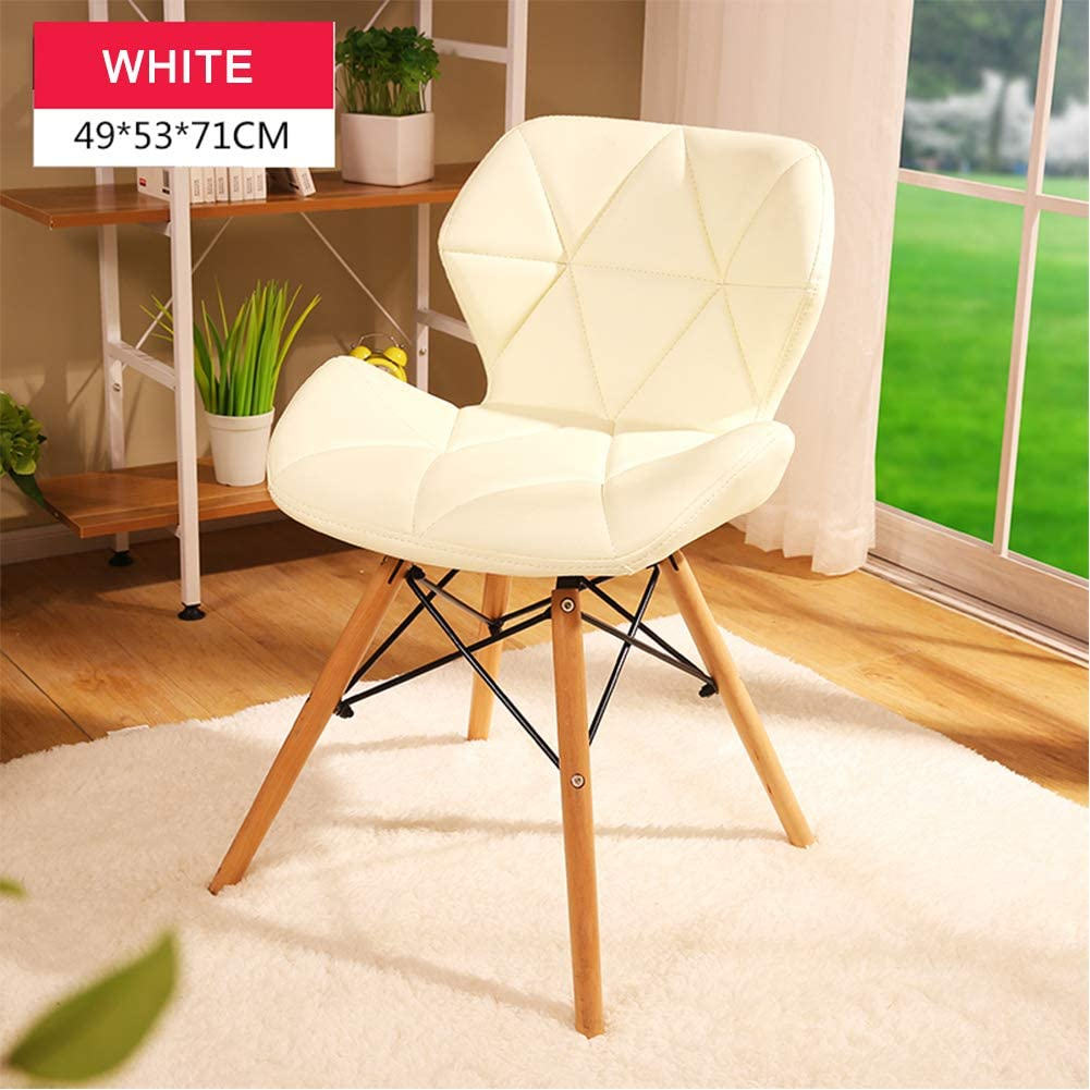 ALIPC Assembled Dining Chair, Shell Lounge Plastic Chair Modern Style for Kitchen, Dining, Bedroom, Living Room Side Chairs-a 49x53x71cm(19x21x28inch)