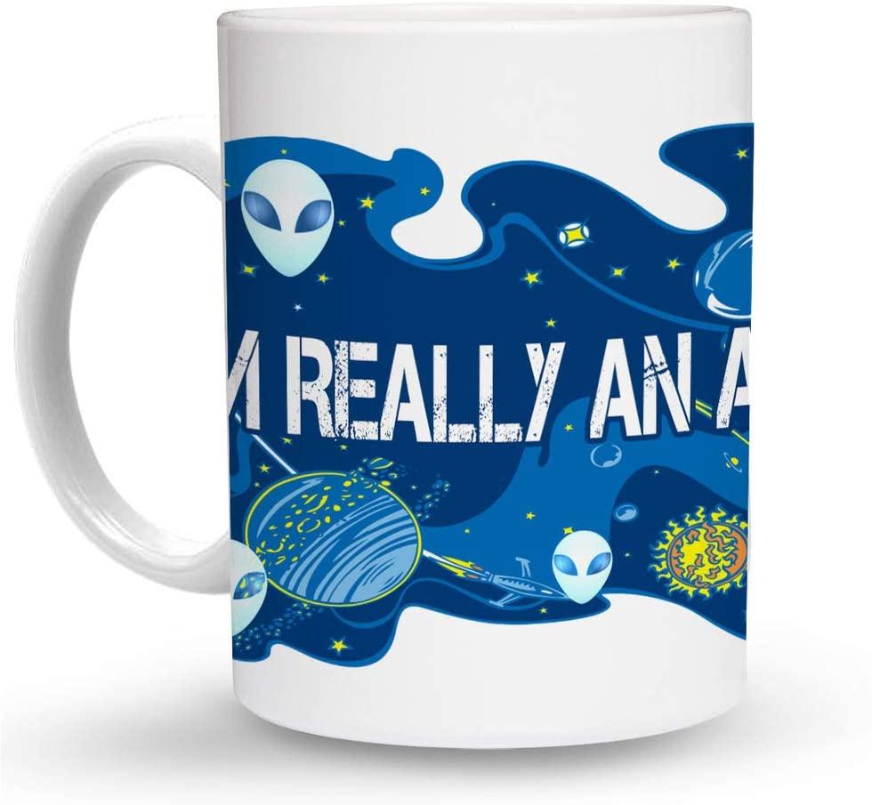 Makoroni - I'M REALLY AN ALIEN Alien UFO 6 oz Ceramic Espresso Shot Mug/Cup Design#56