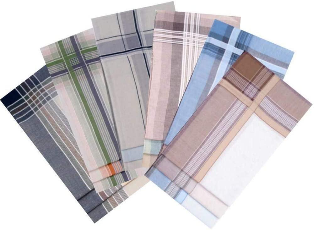 6pc Mix Variations Men's Handkerchief, Mens Handkerchiefs, Fashion Accessories, 41,5 cm