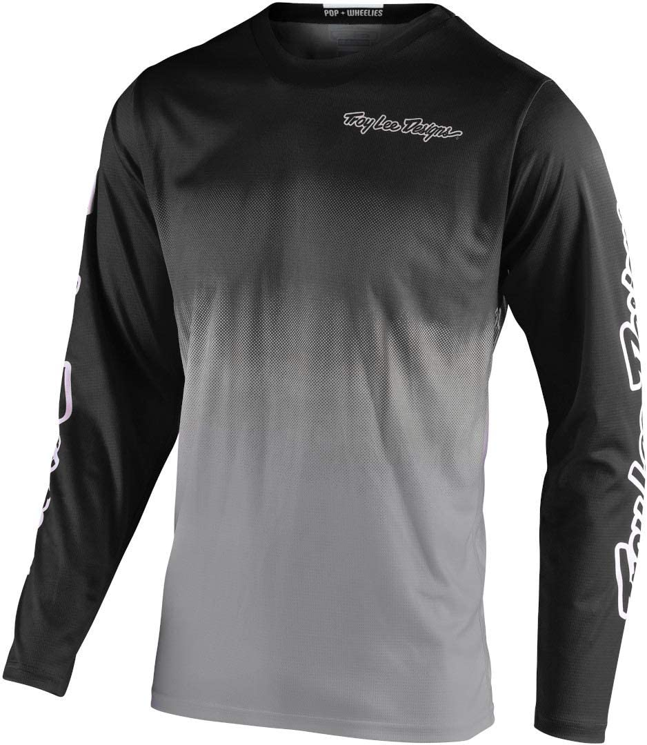 Troy Lee Designs GP Stain'd Men's Off-Road Motorcycle Jersey - Black/Gray/Large